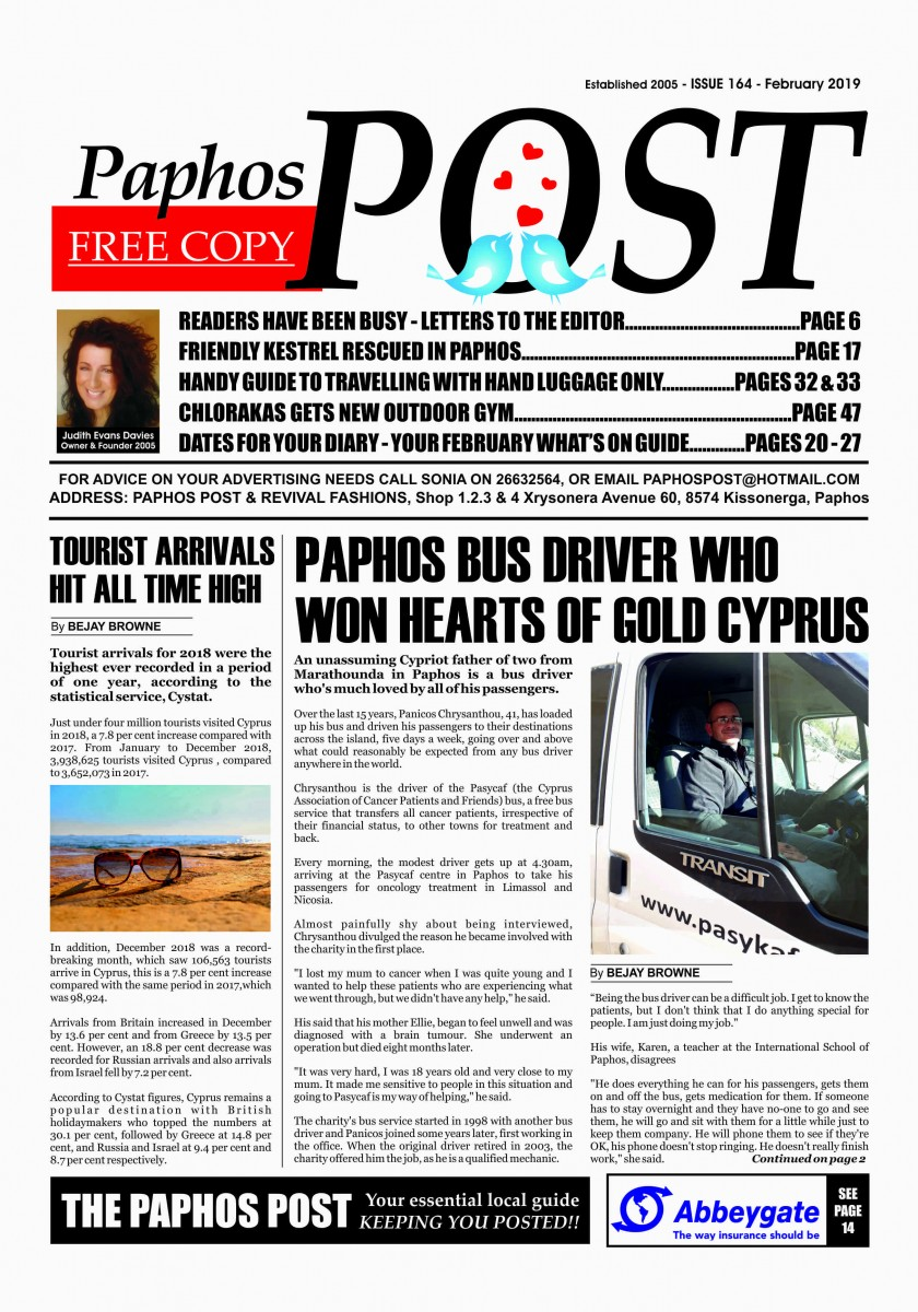 Paphos Post February Issue OUT NOW!! | The Paphos Post